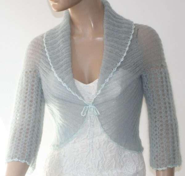 Jachete tricotate din mohair pentru femei