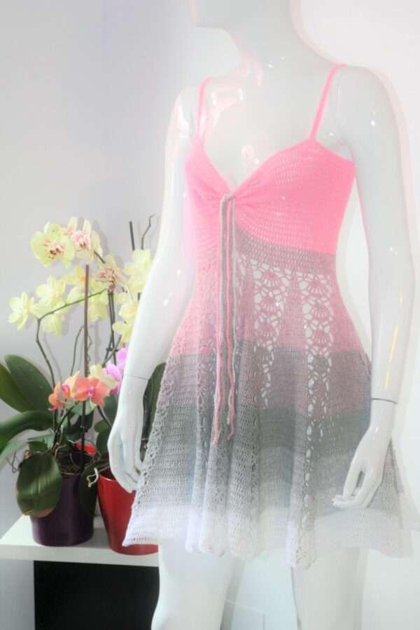 rochie de plaja crosetata manual